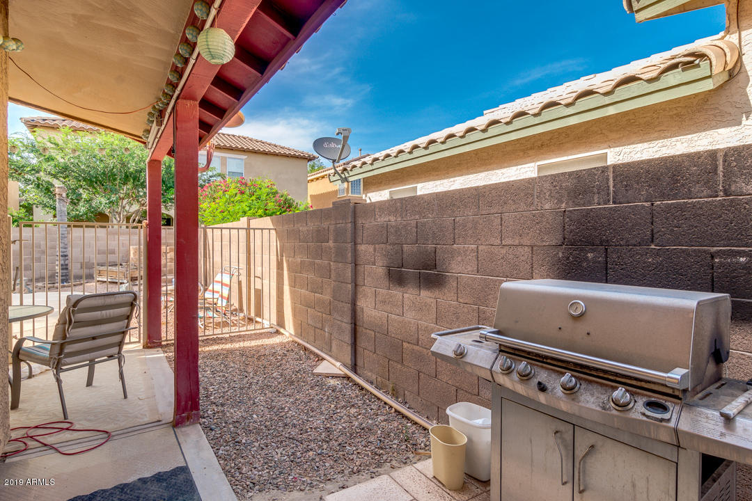 BBQ SPACE OFF OF BACK PATIO