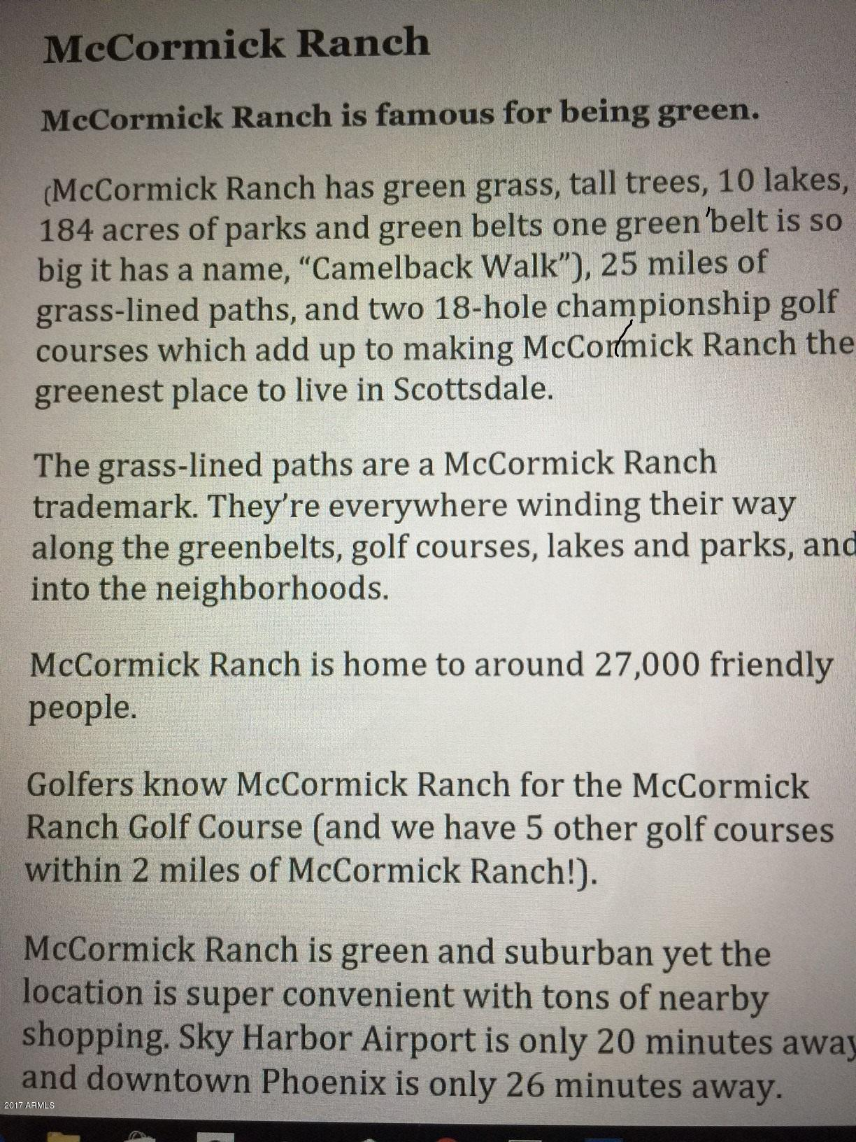 ABOUT MCCORMICK RANCH