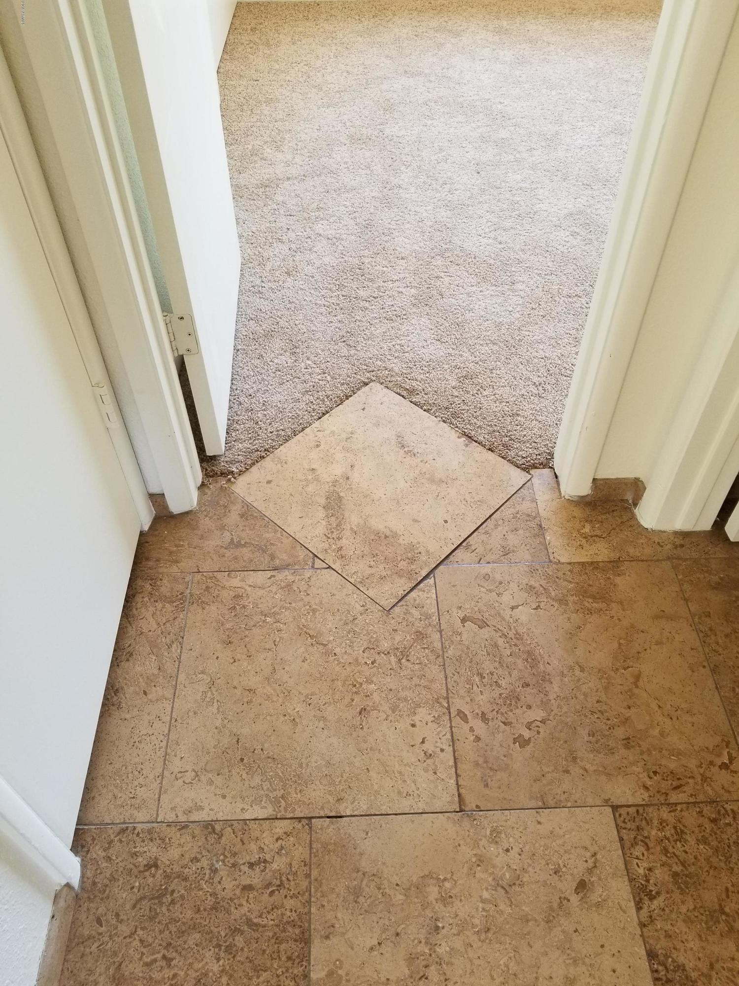 Flooring Stone Transition to Carpet