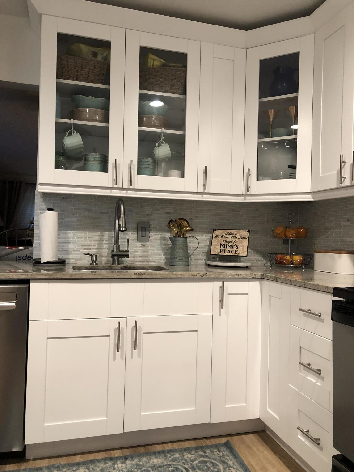new counters and cabinets