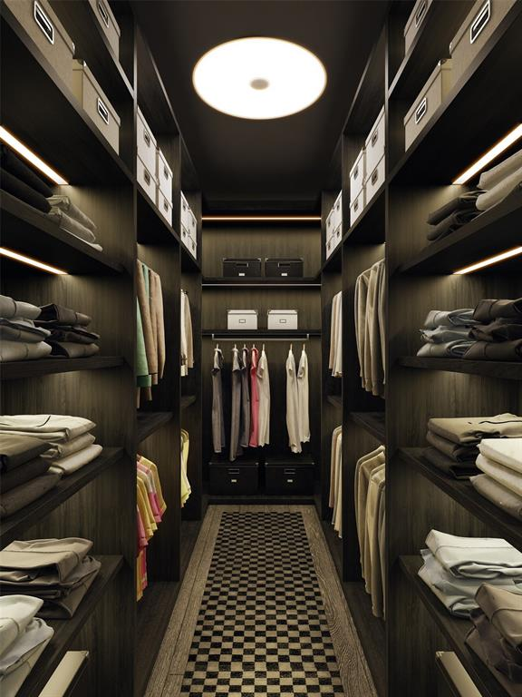 Exquisite master closets are outfitted by the highly-revered Poliform; can be completely customized.