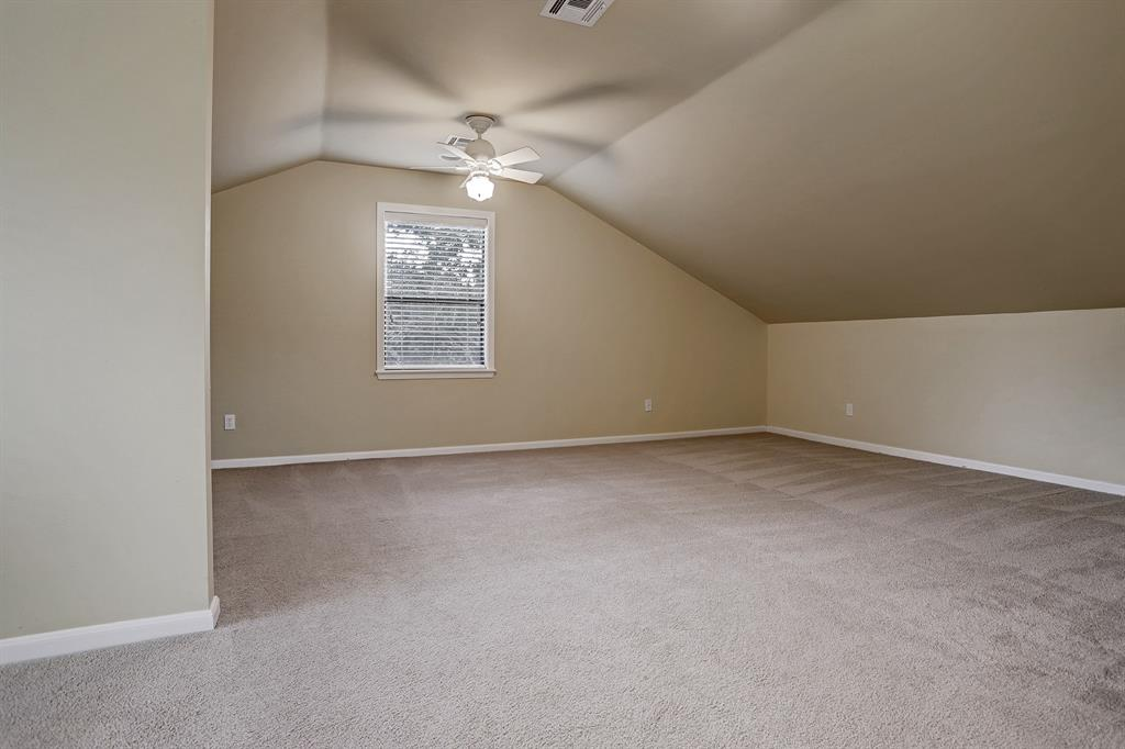 The 4TH BEDROOM (27\' x 23\') is above the garage and is large enough to be a small apartment.
