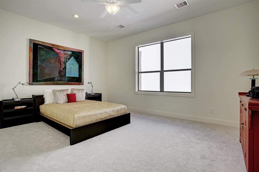 The large master bedroom is a restful retreat