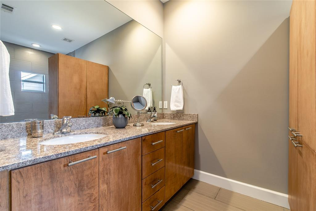 His and Her double vanity in master bath.