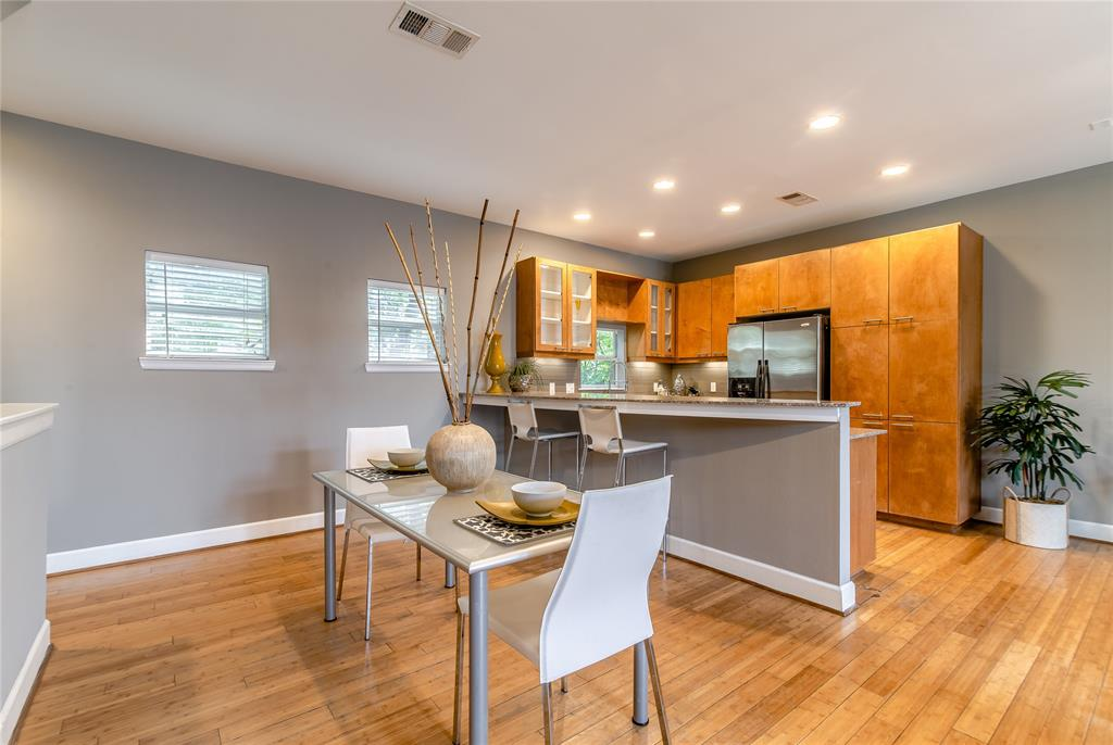 Kitchen has large granite breakfast bar suitable for up to four.