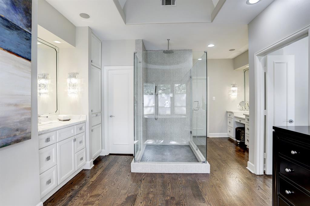 Another view of the master bath.  There is a separate vanity area to the right.
