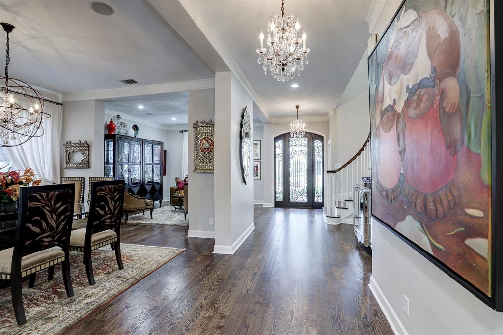 Formals flow into the open plan family room and kitchen.