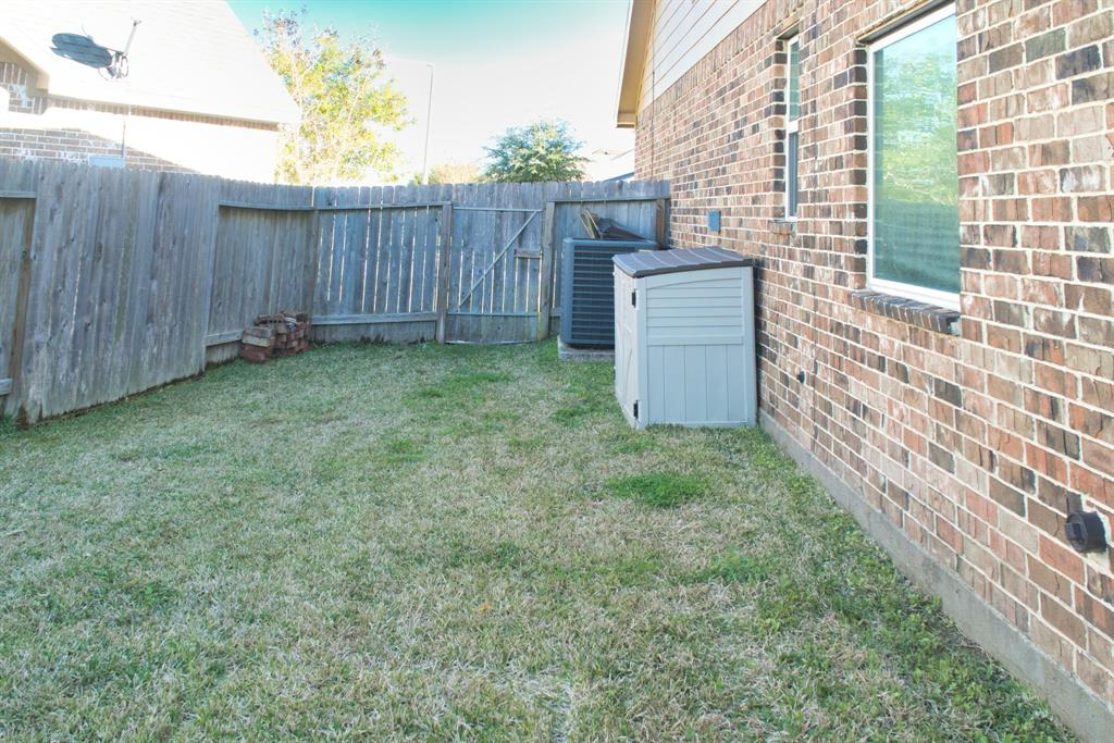 Large Side Yard with good space between Neighbor.
