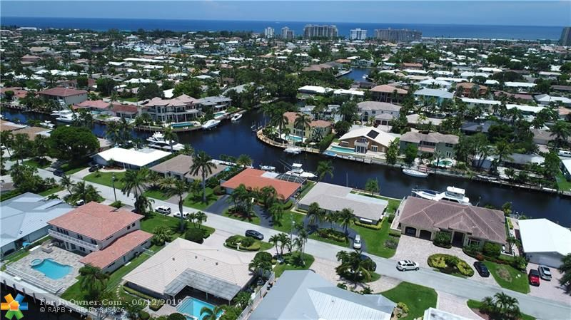 Arial Picture of Home and Ocean in the Background