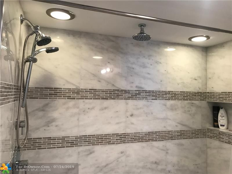 Extra Large Master Bathroom Shower with Rain Shower Faucet