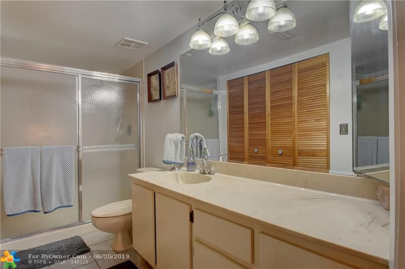 Downstairs bathroom, that closet is for the washer and dryer.