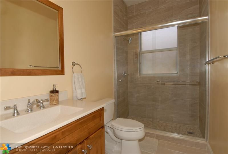 The second downstairs bathroom