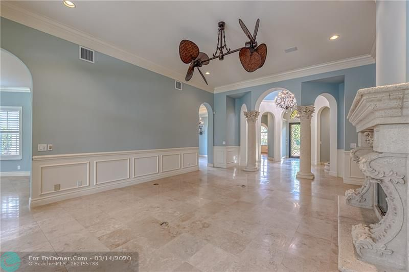 Gorgeous living room and foyer