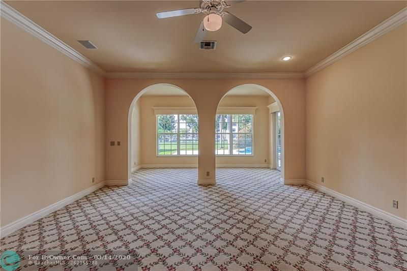 Large master bedroom with additional sitting area
