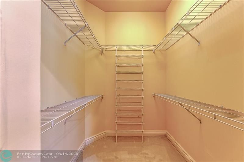Master Bedroom Closet # 2 with shelving
