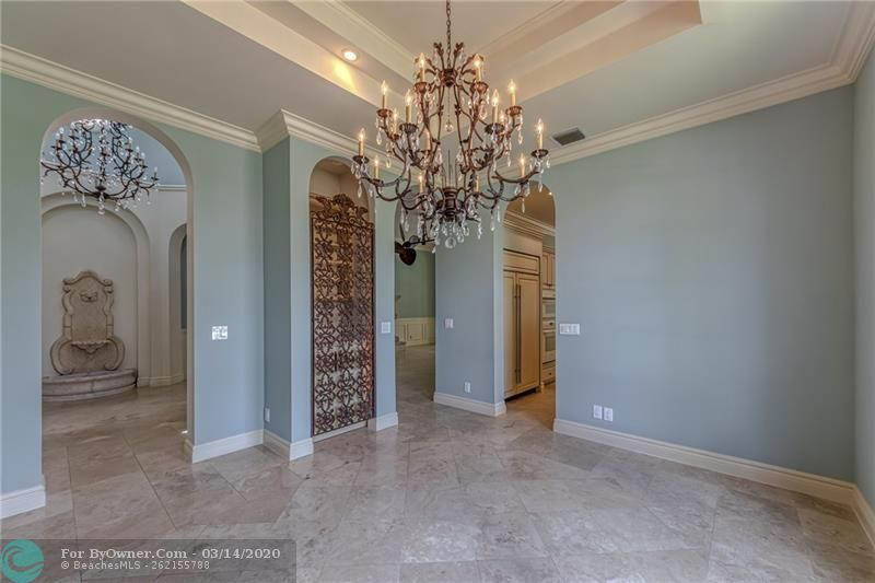 Dining room off of front foyer