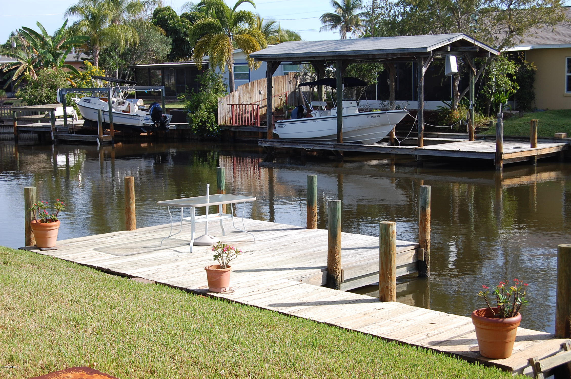 Canal View with Boat Dock