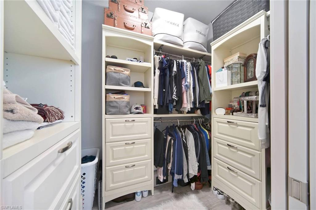 Built-ins in the Master Bedroom Closet