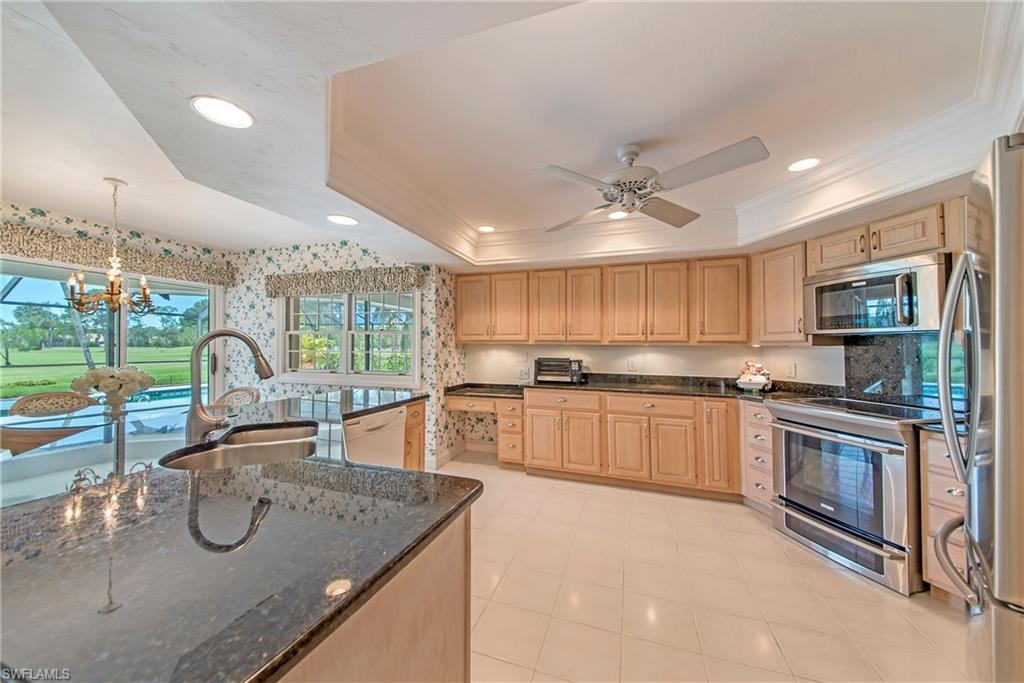 Granite and newer cabinetry