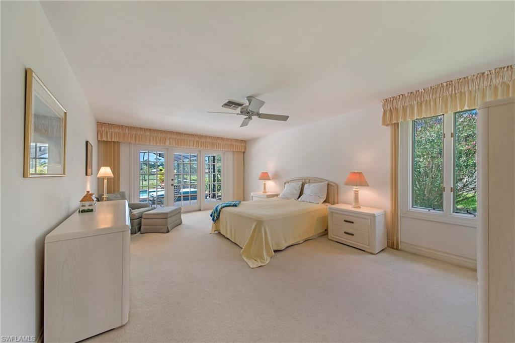 master bedroom with french door to lanai