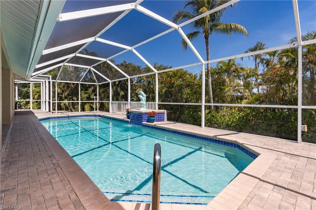 Over size heated pool overlooking sun deck